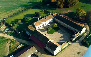 "Aerial View of 12th Century Farm - Melun/Crisenoy, Ile-de-France, France - Vacation Rental in an Area of France called ""Brie"" - 1 hour Drive from Paris!"